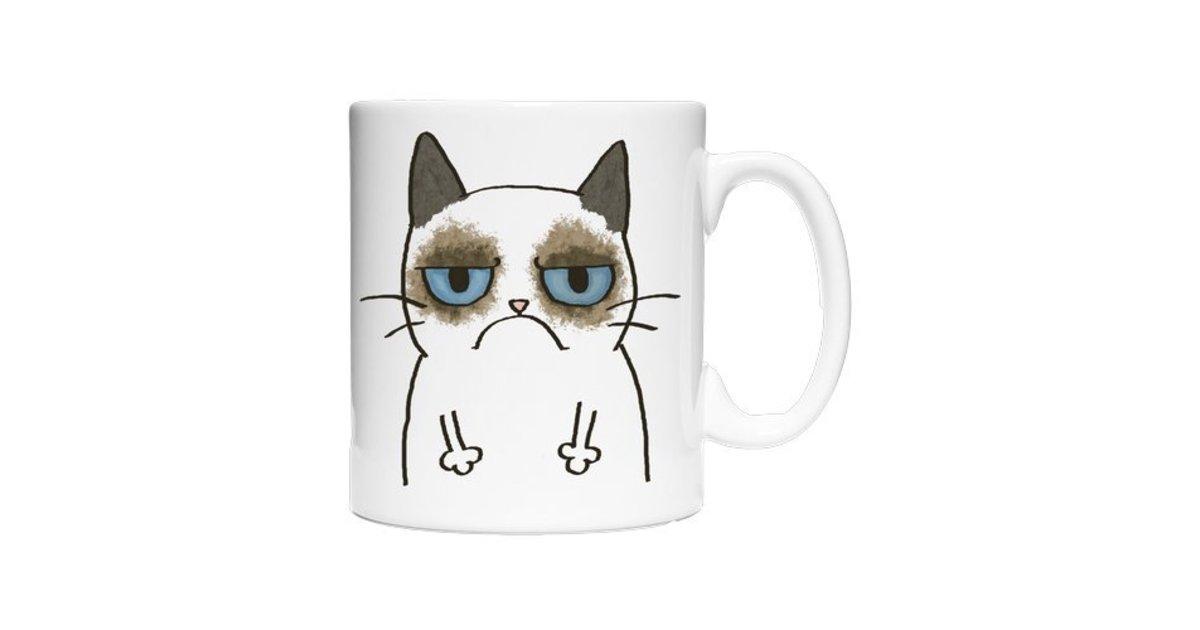 tasse grumpy cat kaffee und tee lustiges amakuria. Black Bedroom Furniture Sets. Home Design Ideas