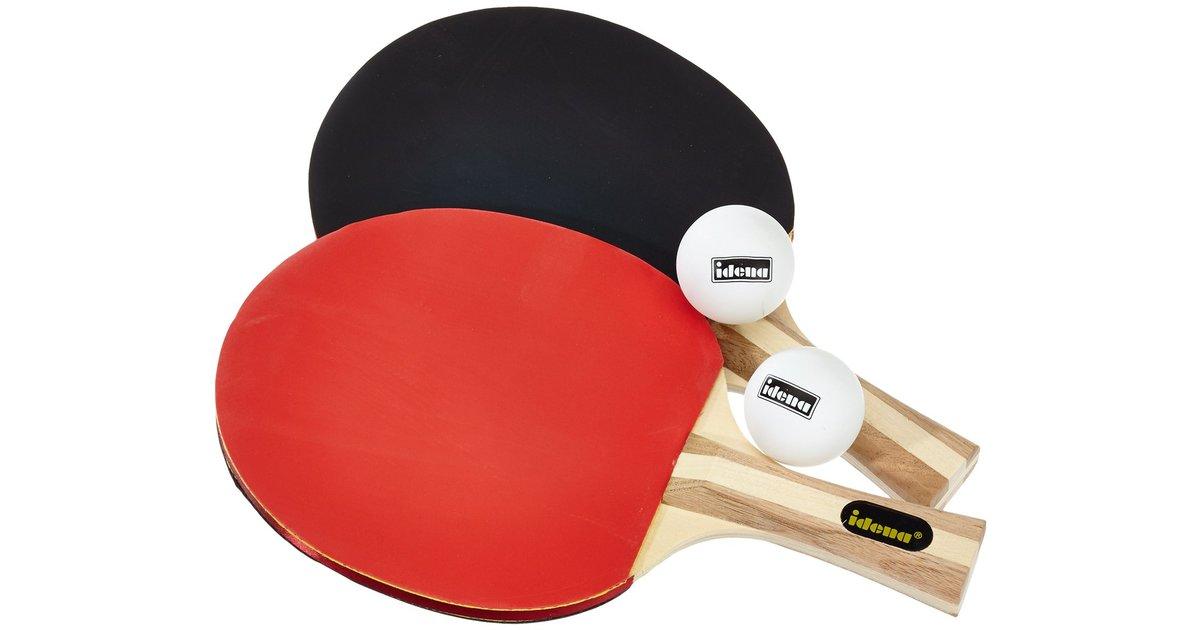 tischtennis turnierset 2 schl ger 2 b lle h lle. Black Bedroom Furniture Sets. Home Design Ideas